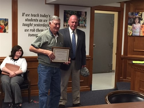 superintendent richard bunch honored